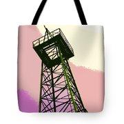 Oil Derrick In Pink Tote Bag