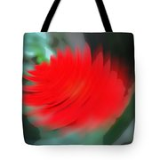 Oil Painting - A Spinning Effect To A Flower Tote Bag