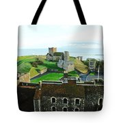 Oil Painting - Aerial View Of Dover Castle Tote Bag