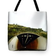 Oil Painting - Approaching A Tunnel Tote Bag