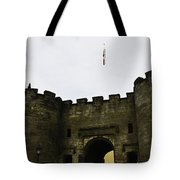 Oil Painting - British Flag Over A Doorway Inside The Stirling Castle Tote Bag