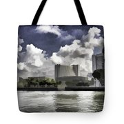 Oil Painting - Buildings Along The Waterfront In Singapore Tote Bag