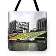 Oil Painting - Floating Platform In The Marina Bay Area In Singapore Tote Bag