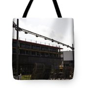 Oil Painting - Lighting Support In Front Of Stands For The Formula One Race In Singapore Tote Bag