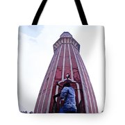 Oil Painting - Minaret Inside Jama Masjid Tote Bag