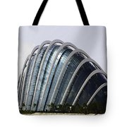 Oil Painting - One Of The Conservatories Of The Gardens By The Bay In Singapore Tote Bag
