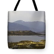 Oil Painting - Rugged Shoreline And Waters Of A Loch In The Scottish Highlands Tote Bag