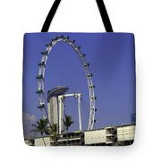 Oil Painting - Singapore Flyer And Marina Bay Sands Along With Preparation For  Tote Bag