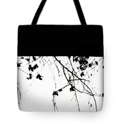Oil Painting - Small Plant Branches Falling Over A Ledge - Horizontal Tote Bag