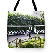 Oil Painting - Stationary Battery Powered Tourist Transport Vehicle Inside The Jurong Bird Park Tote Bag