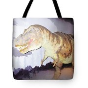 Oil Painting - Thankfully This T Rex Is A Dummy Tote Bag