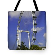 Oil Painting - The Wheel Of Singapore Flyer Tote Bag
