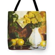 oil painting print of art for sale Golden Lemons  Tote Bag