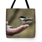 Oil Painting Black-capped Chickadee  Tote Bag