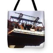 Oil Painting - Bridge As A Part Of Construction Tote Bag