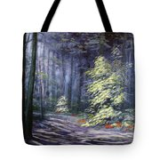 Oil Painting - Forest Light Tote Bag