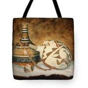 Oil Painting - Indian Pots Tote Bag