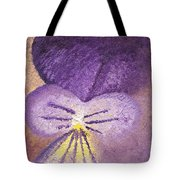 Oil Painting Of Pansy - Viola Tricolor Tote Bag