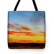 Oil Painting - When The Clouds Turn Red Tote Bag