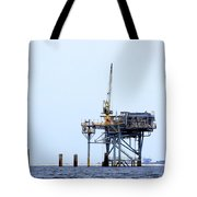 Oil Rig In The Gulf Tote Bag