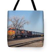 Bnsf Oil Train In Dilworth Minnesota Tote Bag