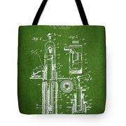 Oil Well Pump Patent From 1912 - Green Tote Bag