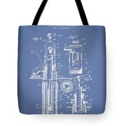 Oil Well Pump Patent From 1912 - Light Blue Tote Bag