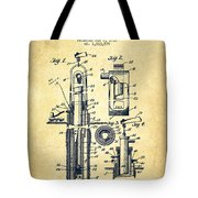 Oil Well Pump Patent From 1912 - Vintage Tote Bag
