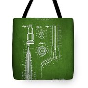Oil Well Reamer Patent From 1924 - Green Tote Bag