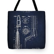 Oil Well Reamer Patent From 1924 - Navy Blue Tote Bag