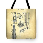 Oil Well Reamer Patent From 1924 - Vintage Tote Bag