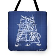 Oil Well Rig Patent From 1893 - Blueprint Tote Bag
