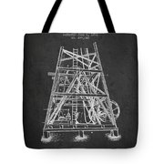 Oil Well Rig Patent From 1893 - Dark Tote Bag
