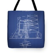 Oil Well Rig Patent From 1917 - Blueprint Tote Bag