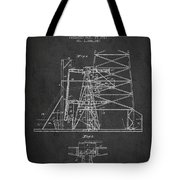 Oil Well Rig Patent From 1917- Dark Tote Bag