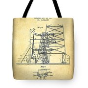 Oil Well Rig Patent From 1917- Vintage Tote Bag