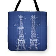 Oil Well Rig Patent From 1927 - Blueprint Tote Bag