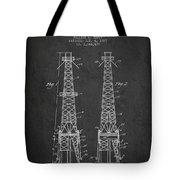 Oil Well Rig Patent From 1927 - Dark Tote Bag