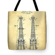 Oil Well Rig Patent From 1927 - Vintage Tote Bag