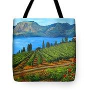 Okanagan Vineyard Tote Bag