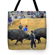 Okinawan Culture Bull Versus Bull Okinawan Bullfighting Tote Bag