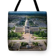 Oklahoma City State Capitol Building A Tote Bag by Cooper Ross