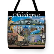Oklahoma Collage With Words Tote Bag