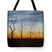 Country Road Sunset Tote Bag
