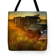 Old Abandoned Farm Truck Tote Bag