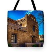 Old Adobe Building Santa Fe New Mexico Tote Bag