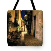 Old Alley At Night Tote Bag