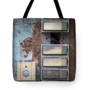 Old And Damaged Doorbells Tote Bag