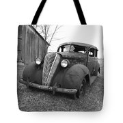 Old And Forgotten Black And White Tote Bag