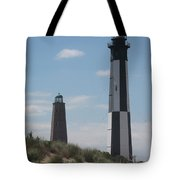 Old And New Cape Henry Lights Together Tote Bag